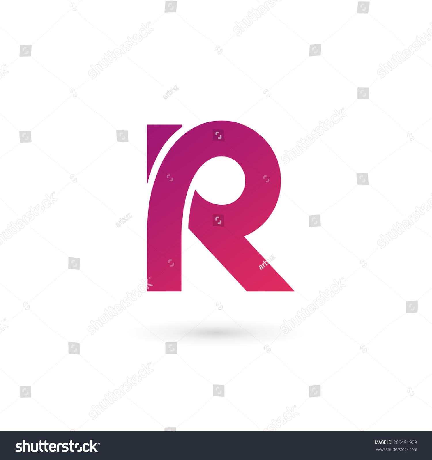 字母r标志图标设计模板元素-符号/标志