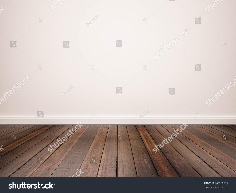 硬木地板和白色的墙