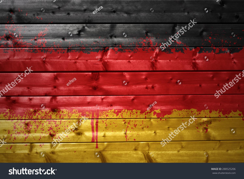 木质纹理丰富多彩的画德国国旗
