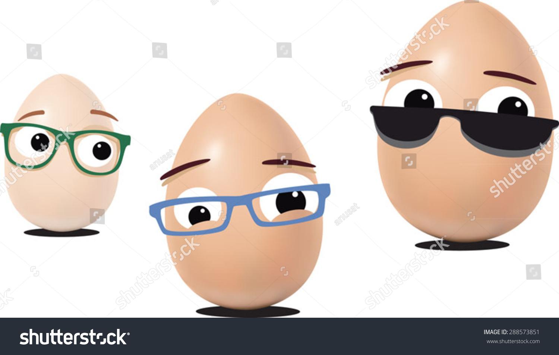 蛋眼睛的卡通