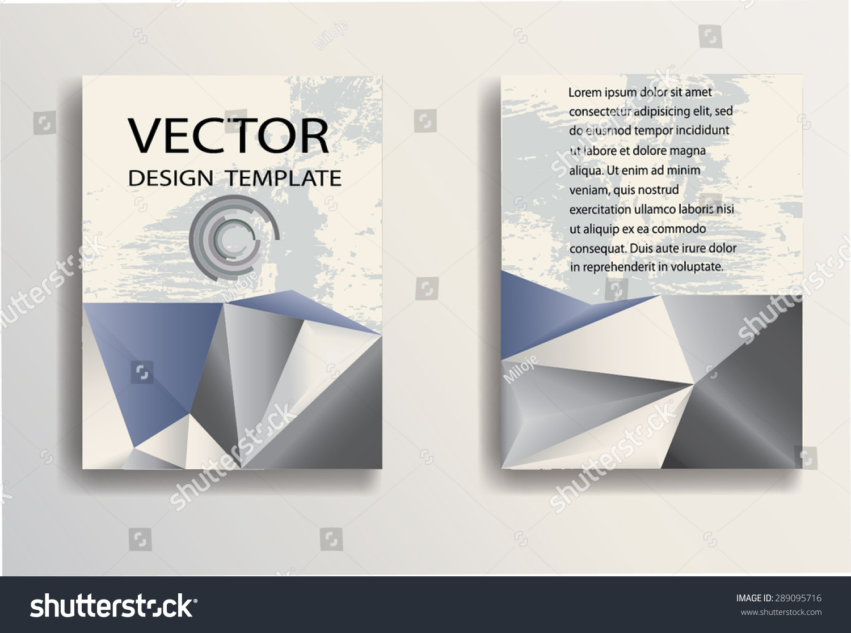 业务宣传单模板与几何三角背景.企业形象旗帜设计