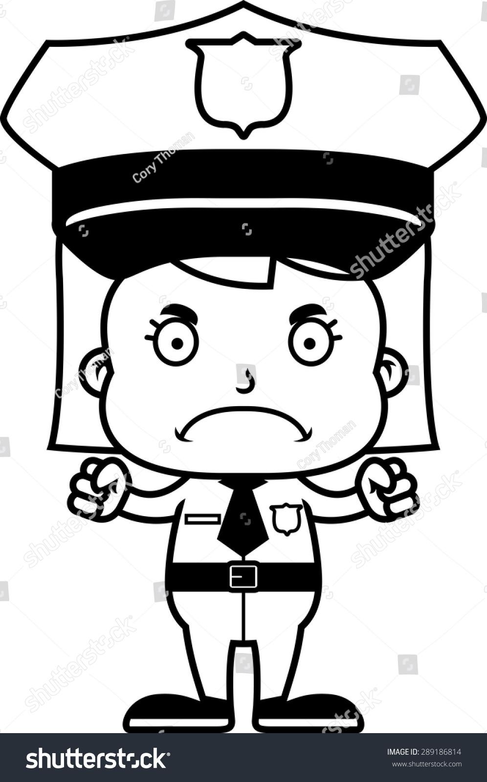 警察动漫手绘图