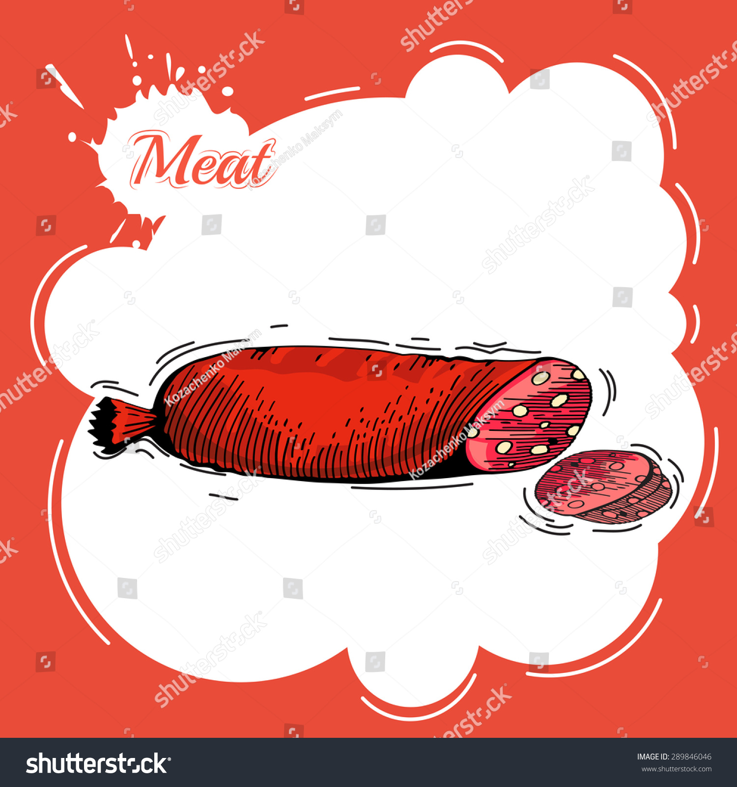 手绘肉元素.商务午餐