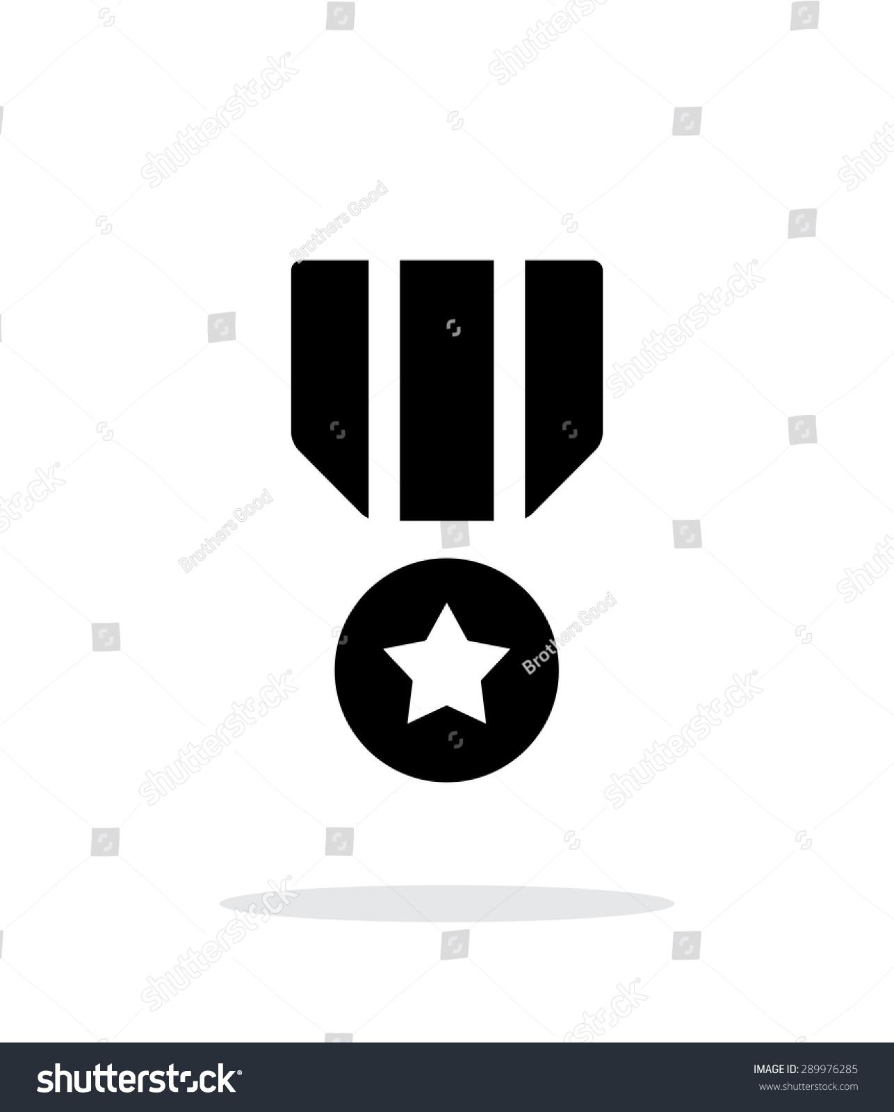 军事奖章上白色背景简单的图标