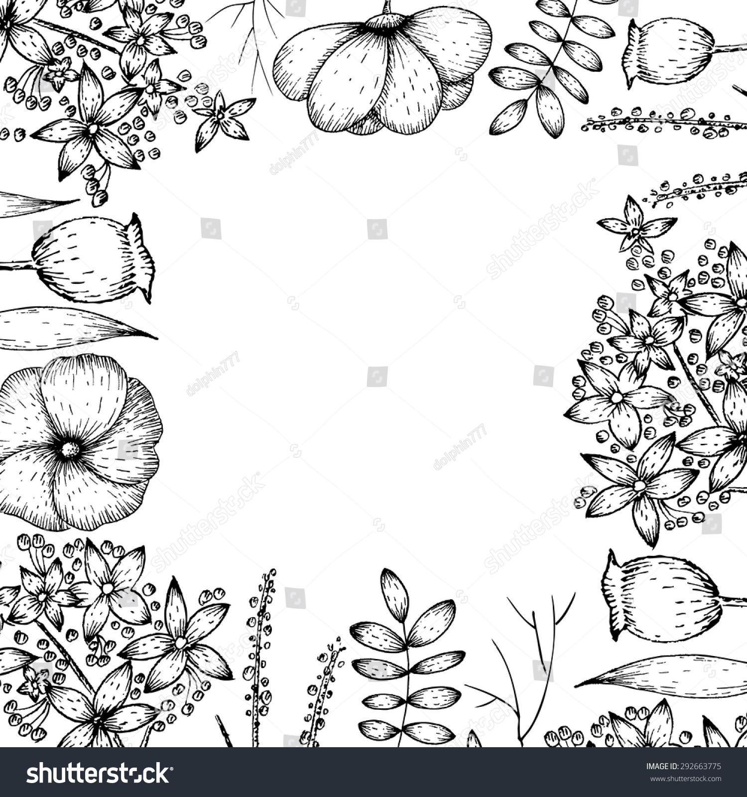 手绘的背景与花卉元素-自然-海洛创意(hellorf)-中国