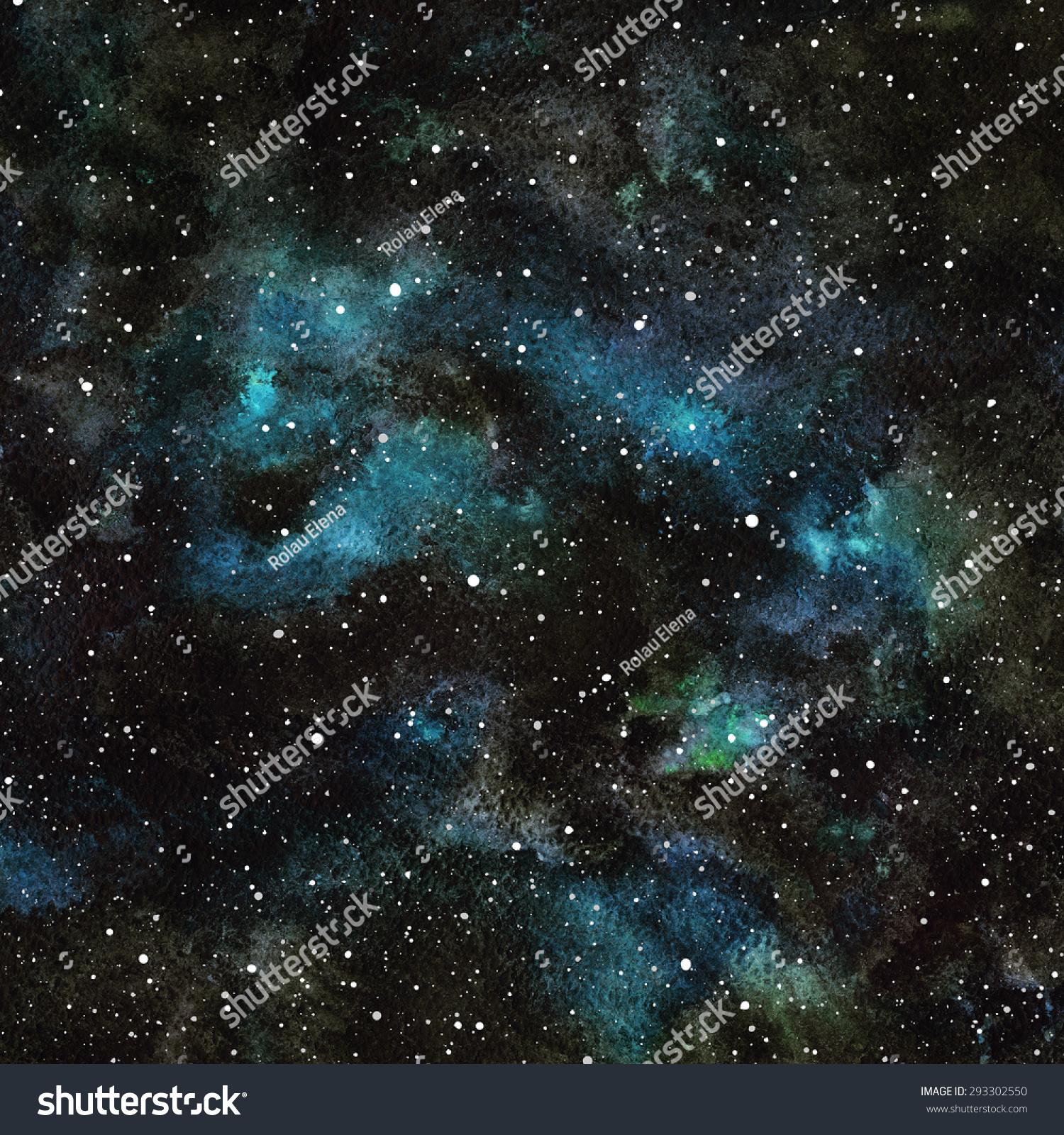手绘水彩向量夜空的星星.宇宙背景.飞溅的纹理.黑色,.