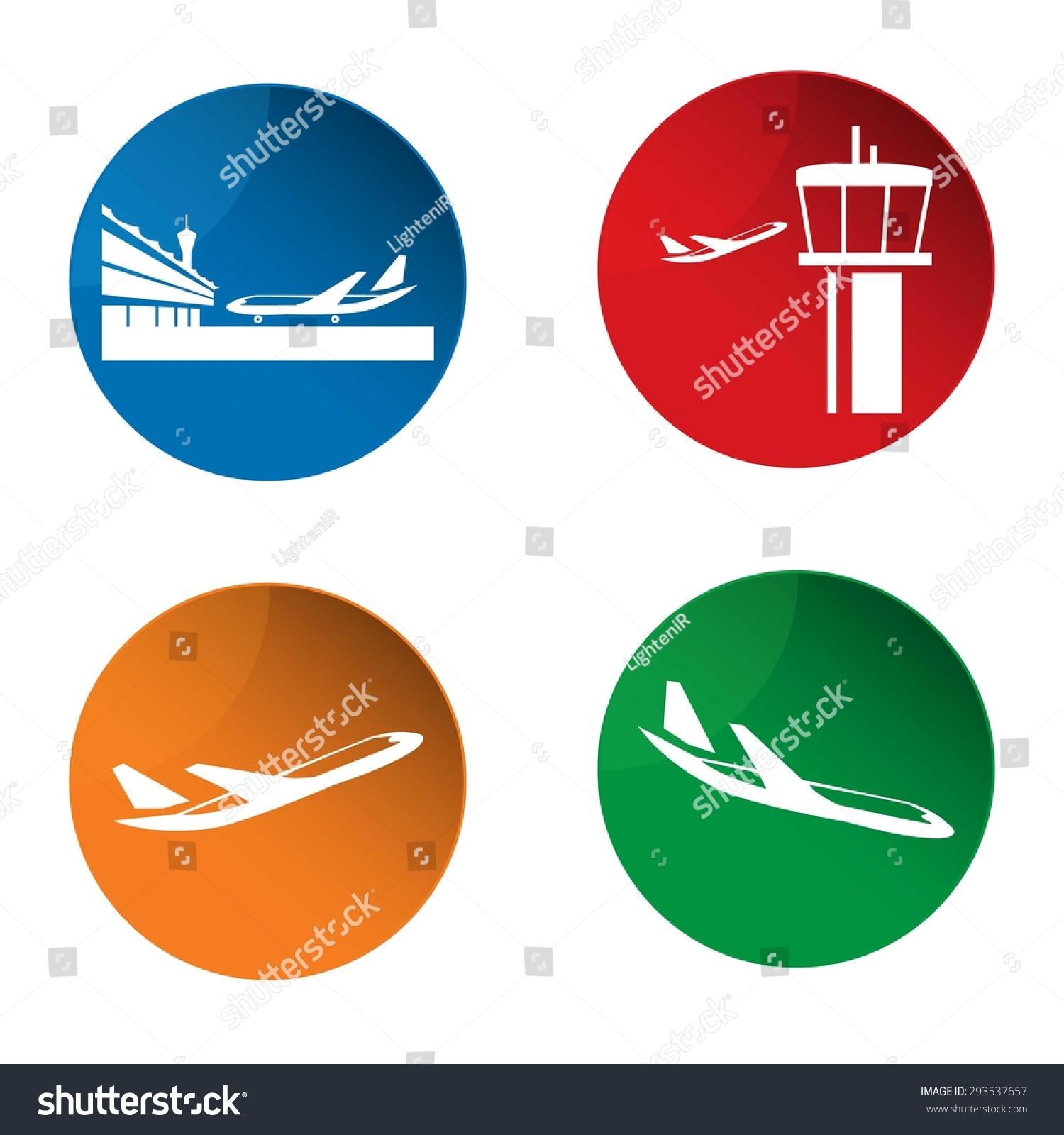航空图标.矢量-交通运输