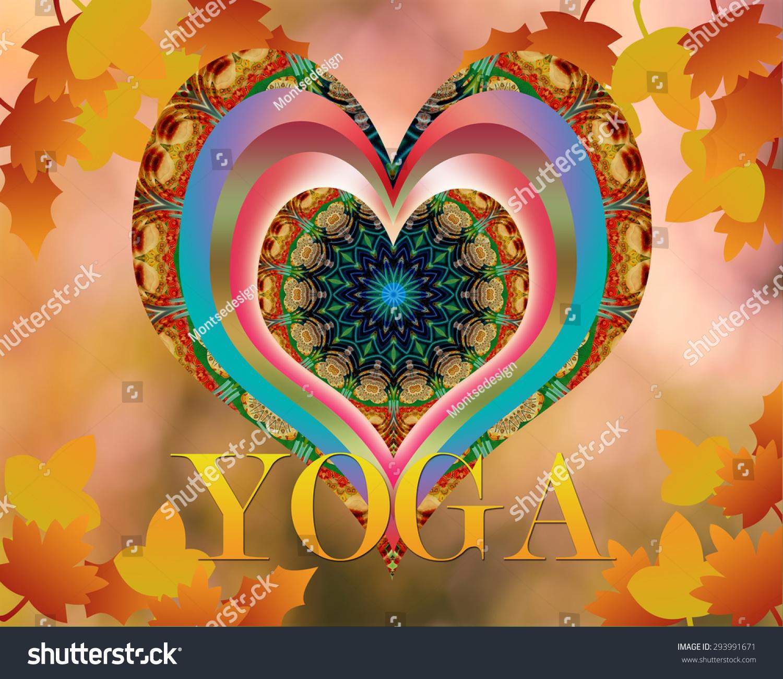 瑜伽设计与秋叶之静美-背景/素材,抽象-海洛创意()-合
