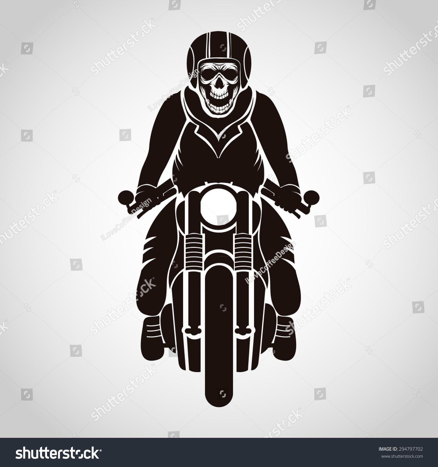 骑摩托车的人的头骨