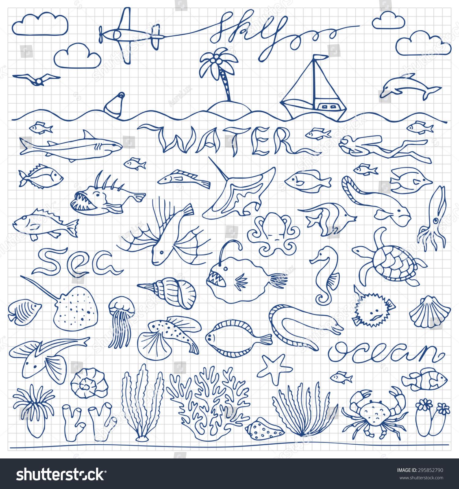 海底世界手绘涂鸦集