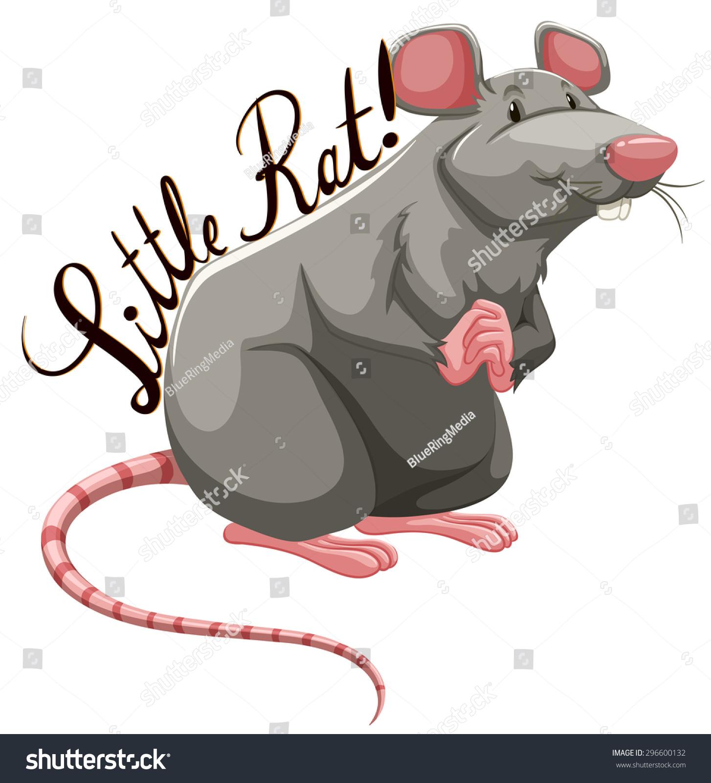 文字插图的小老鼠-动物/野生生物-海洛创意(hellorf)