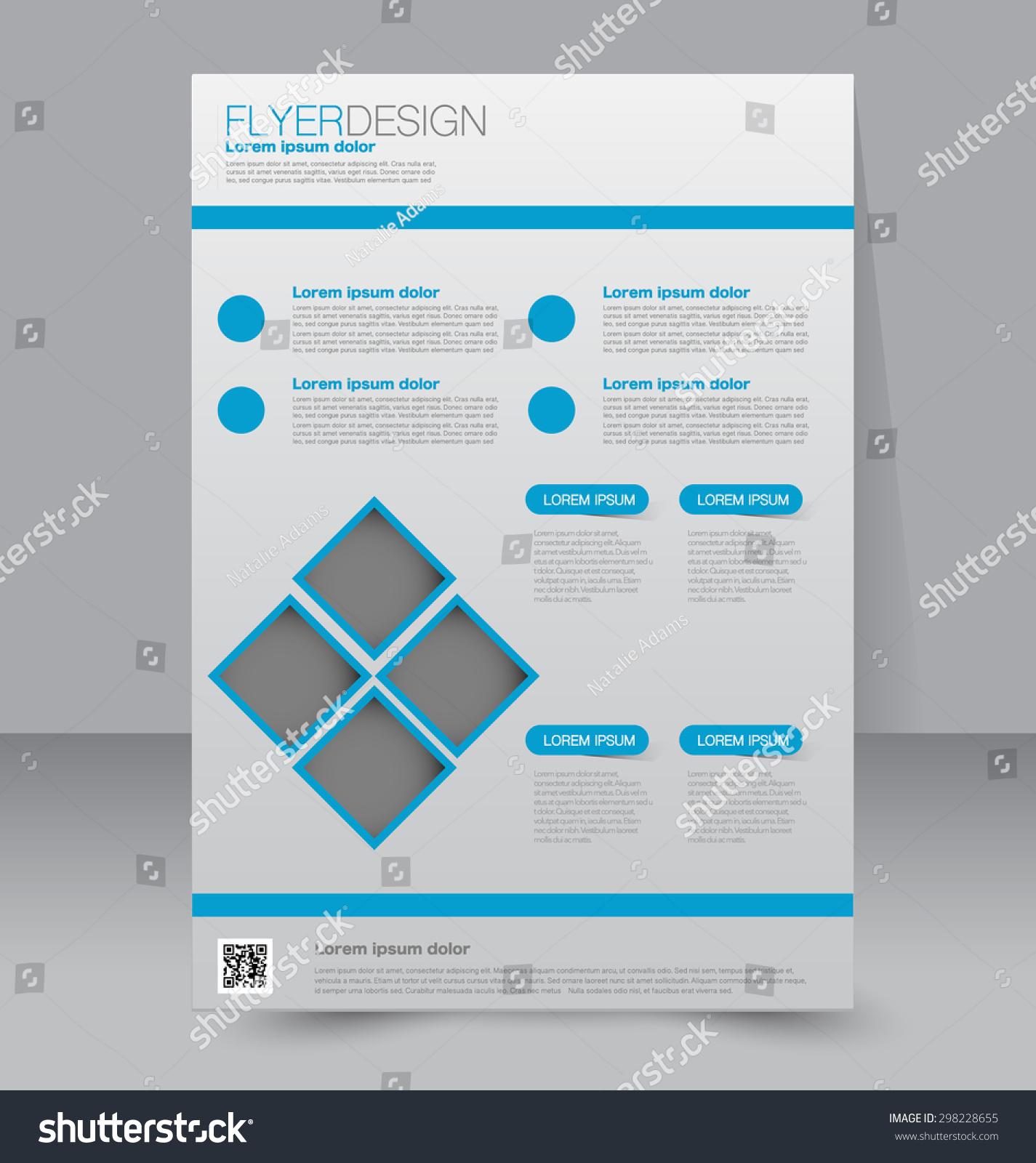 传单模板.业务手册.可编辑的a4海报设计,教育,展示,网站,杂志封面.