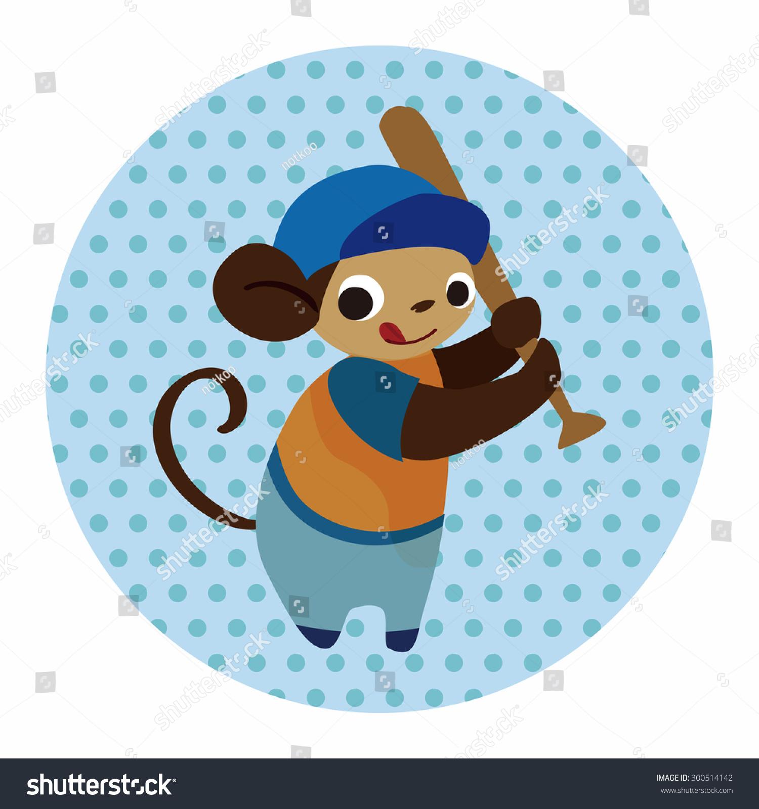 运动的动物猴子卡通元素-物体-海洛创意(hellorf)--.