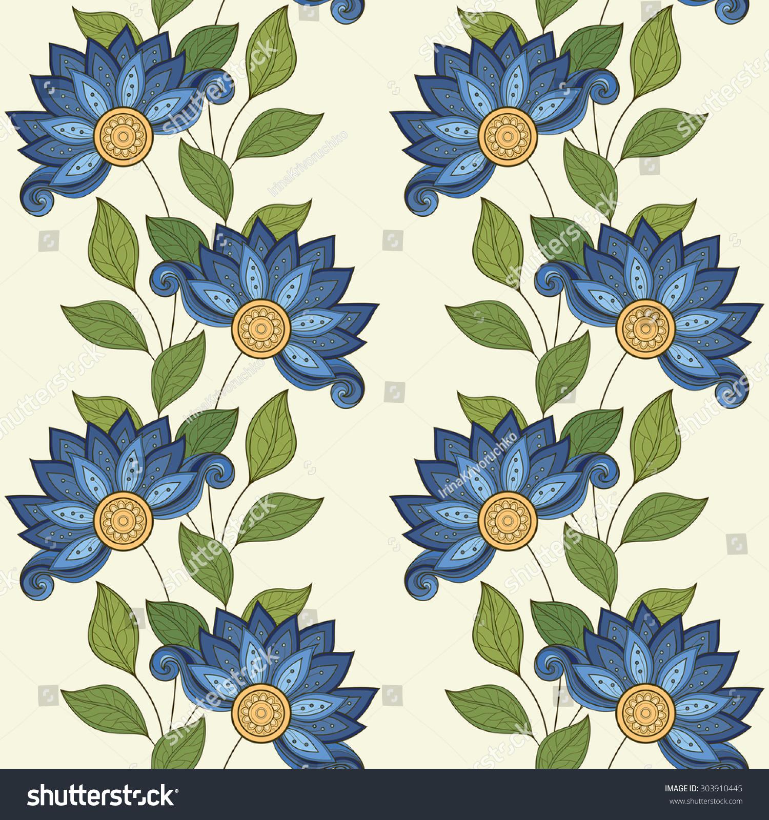 案.手绘花卉结构图片