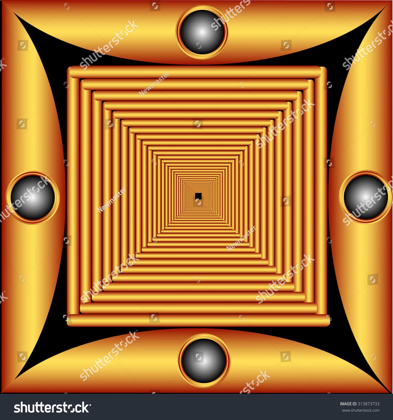 装饰图案的形式框架的正方形瓷砖-艺术-海洛创意()-合