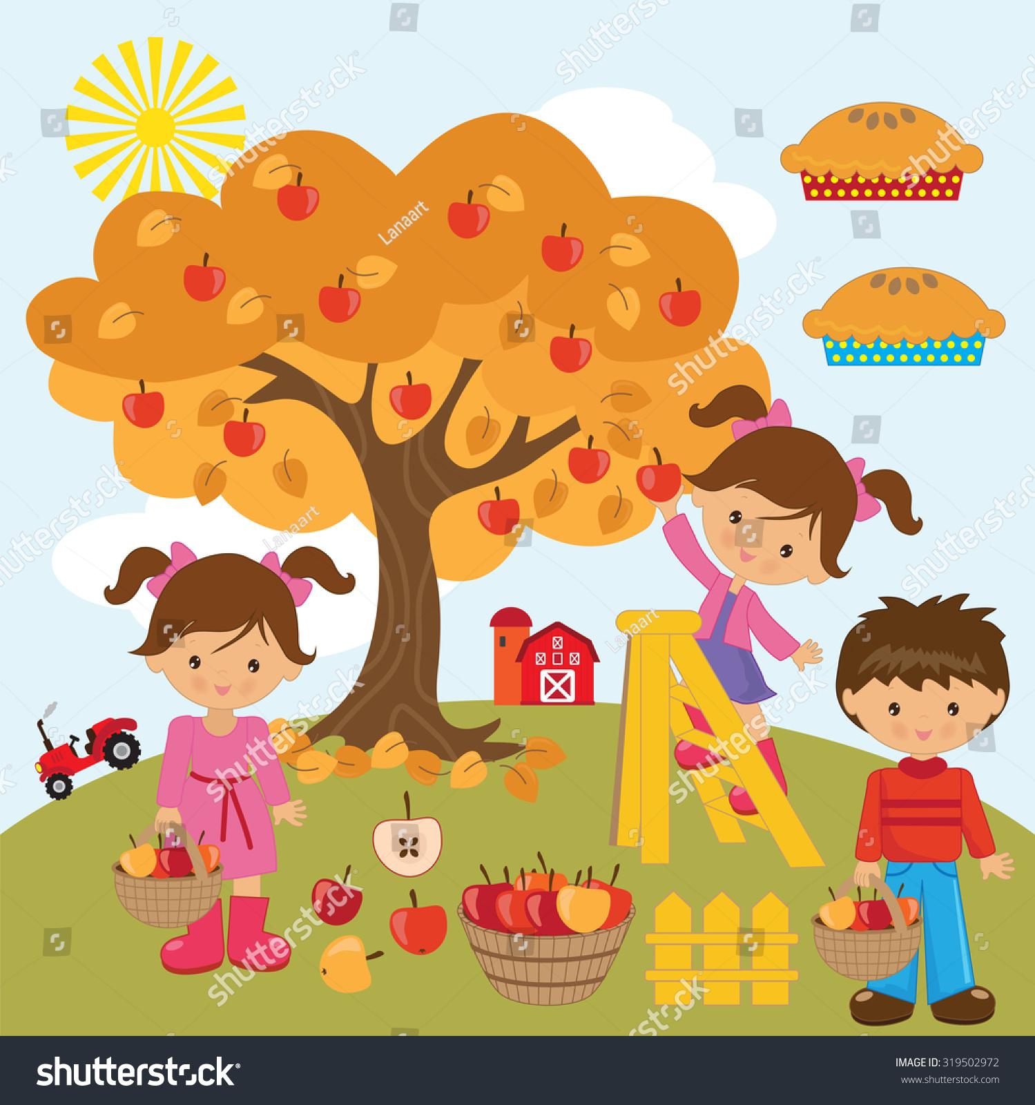 苹果树矢量图-自然,人物-海洛创意(hellorf)-中国独家
