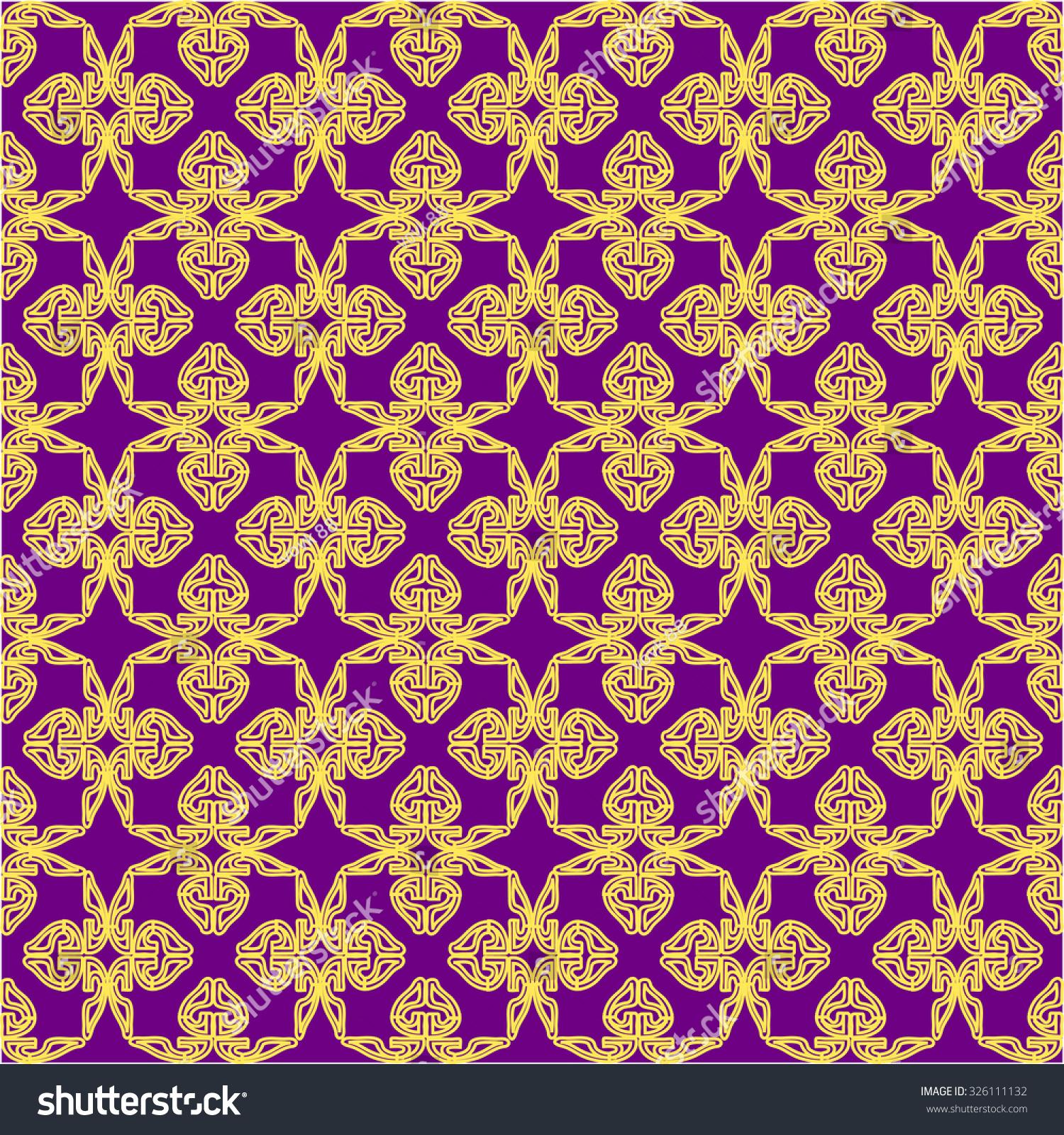 无缝模式由抽象的形状在一个紫色的背景-背景/素材