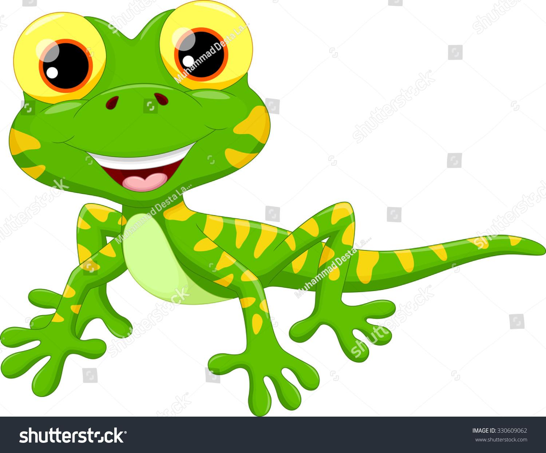 可爱蜥蜴卡通-动物/野生生物-海洛创意(hellorf)-中国