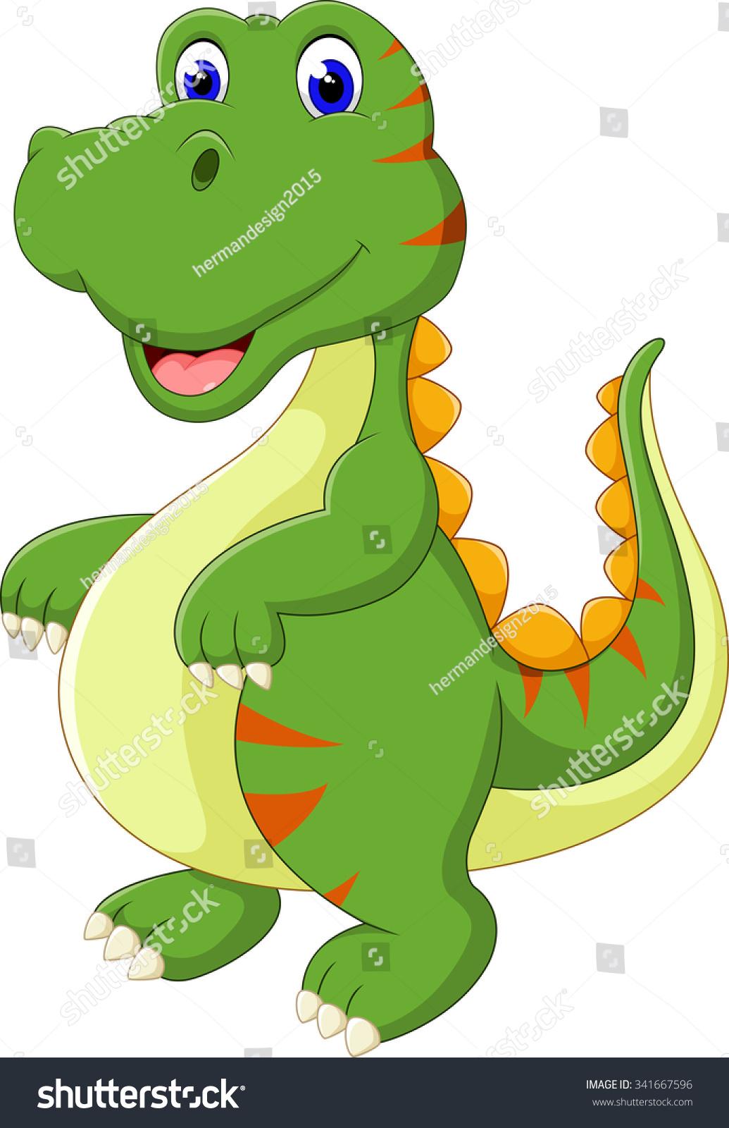 卡通可爱的恐龙-动物/野生生物-海洛创意(hellorf)--.