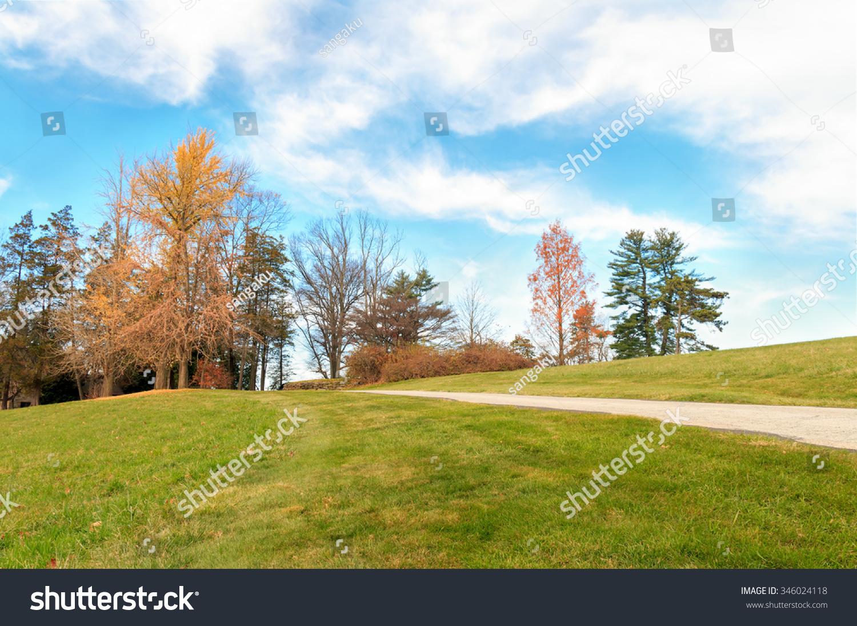 秋天的风景——即athyn历史街区