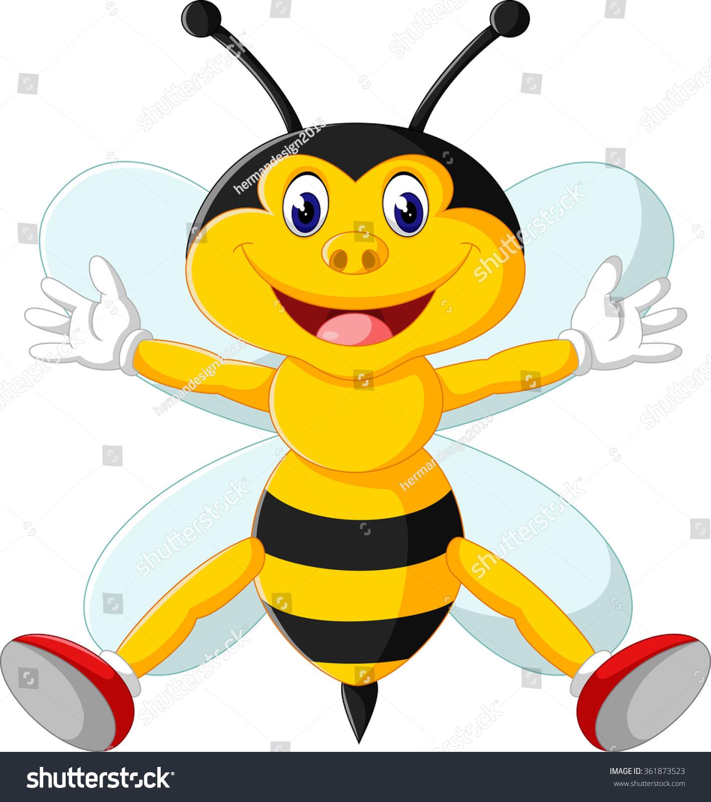 卡通可爱的蜜蜂-动物/野生生物-海洛创意(hellorf)