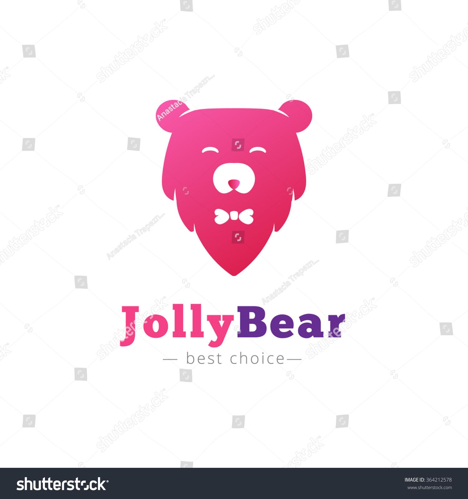 可爱的卡通熊头领结标志-animals/wildlife,signs/-()