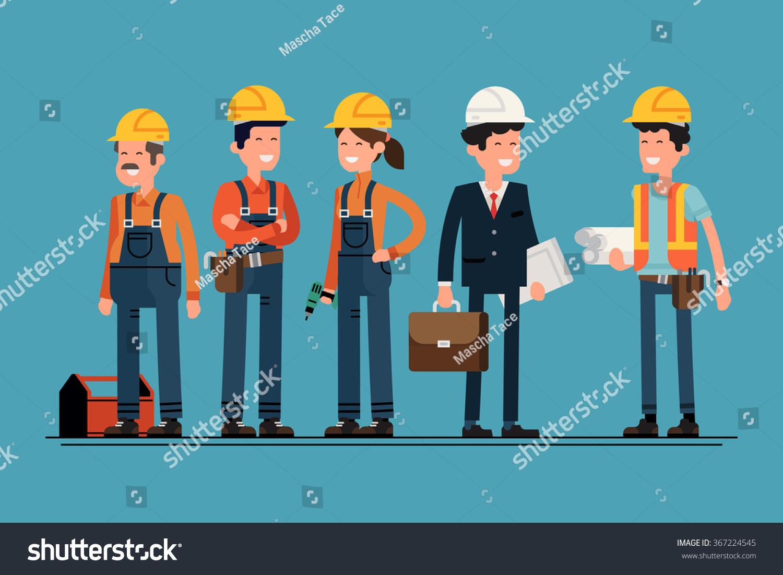 土木工程师、建筑师和建筑工人字符组。酷矢量平面设计施工团队角色阵容。群建筑工人戴着安全帽,友好的微笑-Industrial,People-站酷海洛创意正版图片,视频,音乐素材交易平台-Shutterstock中国独家合作伙伴-站酷旗下品牌