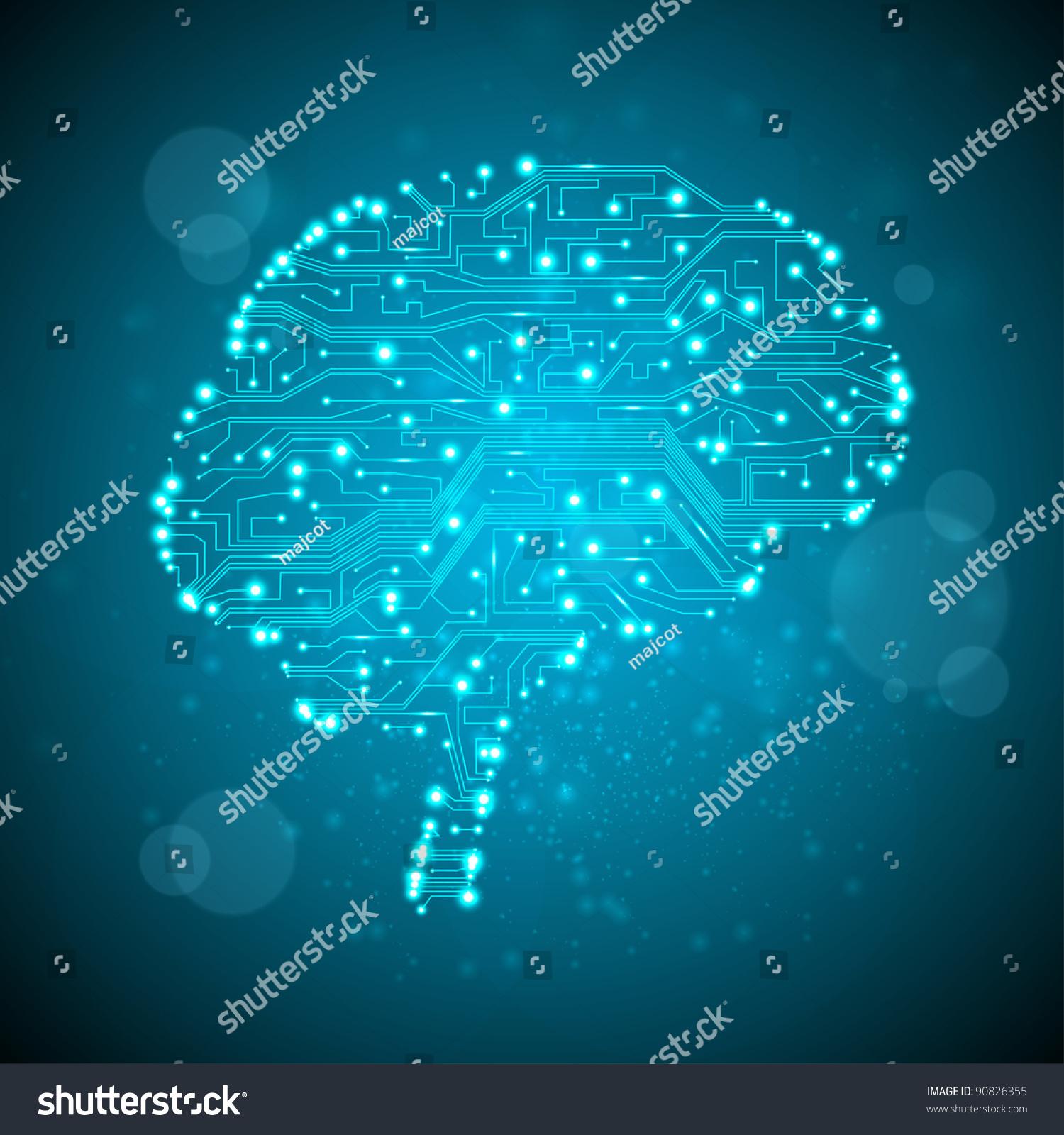 电路板的背景,技术说明,形式的大脑-科技,抽象-海洛()