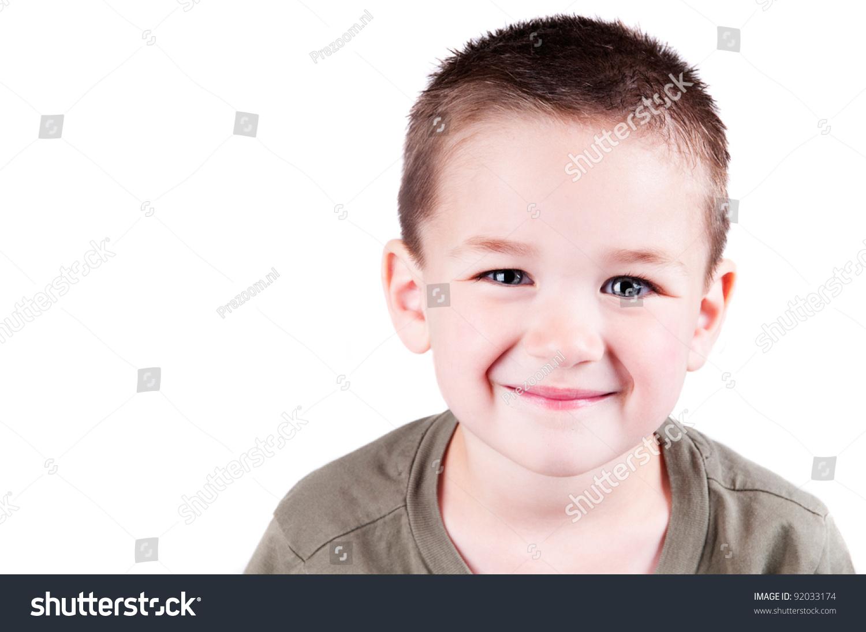可爱的小男孩孤立在白色背景断路-人物