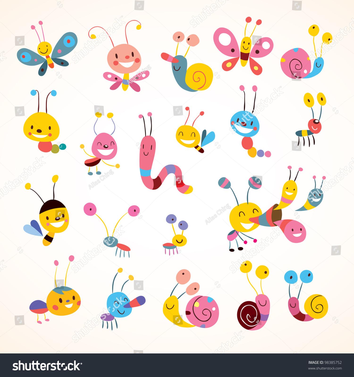 可爱的蝴蝶甲虫蜗牛-动物/野生生物,自然-海洛创意()