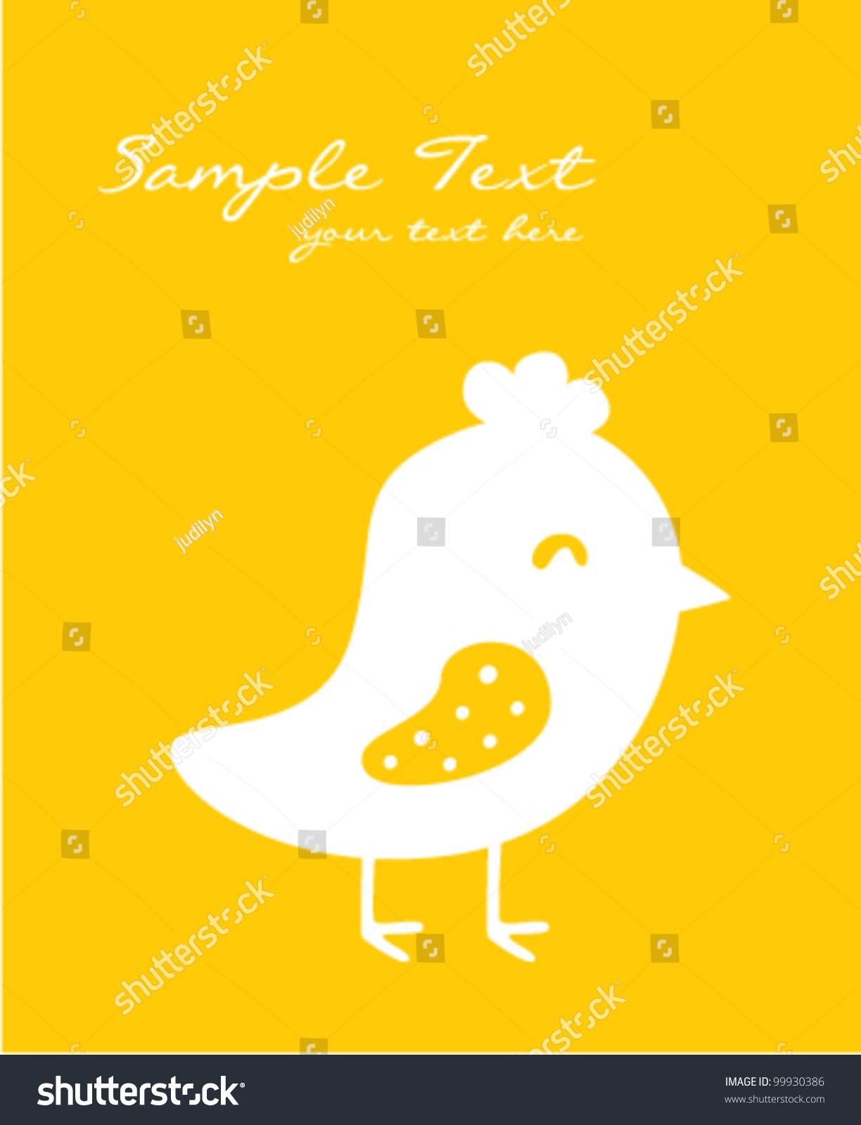 可爱的小鸡肉卡-动物/野生生物,艺术-海洛创意()-中国